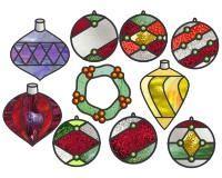 Stained Glass Christmas Ornament Patterns.Christmas Stained Glass Patterns