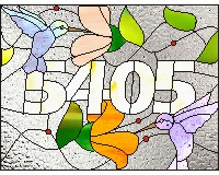 5404 hummingbird transum stained glass pattern