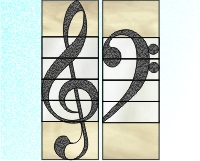 Treble & bass clef 2