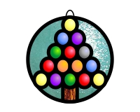 Easy jewelled christmas tree (ornament)
