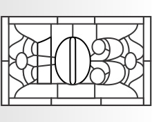 103 house transom 35.5 x 21