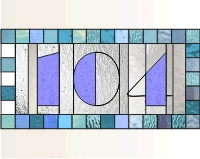 104 House numbers transom