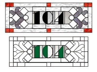 104 House numbers transom var 1