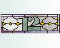 12 house number transom a