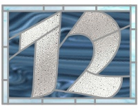 12 house number transom script