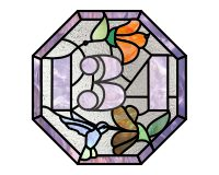 134 Octagonal with border 1 (and hummingbirds)