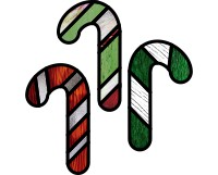3 candy cane ornaments (suncatchers)