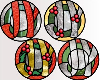 "4 super simple ""JOY"" rounds (for stained glass)"