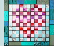 Aaron's stained glass hearts and squares