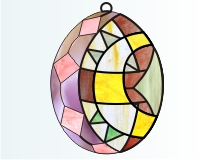 "Alphabet stained glass easter egg ""C"""