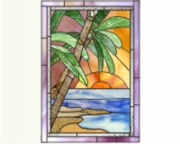 Landscape And Skyline Stained Glass Patterns