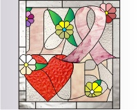 Breast cancer LOVE ribbon 1