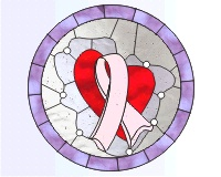 Breast cancer pattern 1 (pink ribbon)