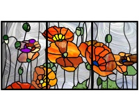 California poppies three panel