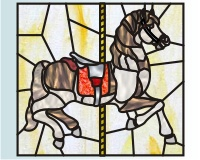 Carousel horse - paint