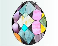 Easter egg pysanky stained glass suncatcher