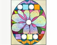 Easy stained glass easter egg pattern 1
