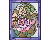 Easy stained glass easter egg pattern 10