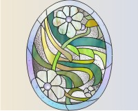 Easy stained glass easter egg pattern 11