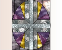 EASTER Easy stained glass easter egg pattern 2