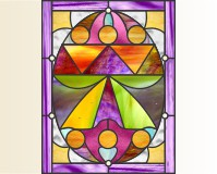 Easy stained glass easter egg pattern 3
