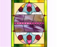Easy stained glass easter egg pattern 4