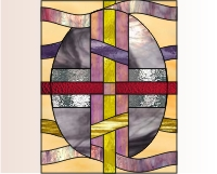 Easy stained glass easter egg pattern 5