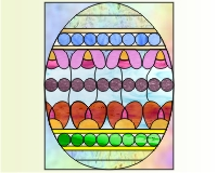 Easy stained glass easter egg pattern 6