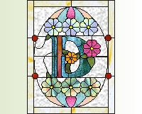 "Alphabet stained glass easter egg ""D"""