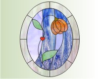 Free Stained Glass Candel Holder Patterns by Christian