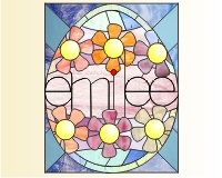 Easter Egg stained Glass Window | Domestic Goddesque
