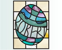 Easy stained glass easter egg ROBERT