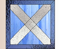 Scottish flag stained glass pattern