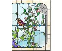 Flowers and birds single panels R