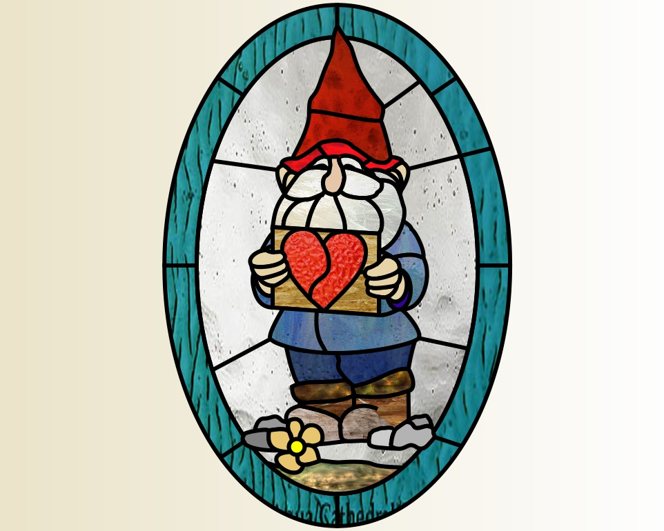 Gnome heart oval