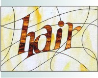 Hair Stained Glass Pattern For A Salon Stained Glass