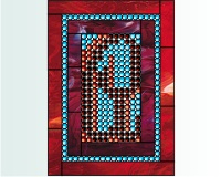 "Light-brite stained glass ""A"""