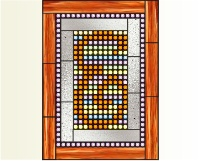 "Light-brite stained glass ""E"""