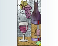 Stained Glass Grape Patterns | Beso - Beso | Shopping Ideas and