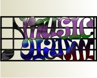 Music in stained glass