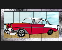 Old Chevy 1 Custom Car Stained Glass Pattern Old Chevypdq