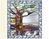 Olive Tree 2 Olive Tree Stained Glass Pattern Olive Press 2 50pdq