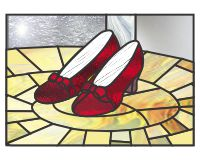 Red shoes (and) yellow brick road