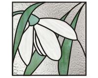 Snowdrop Flower Snowdrop Flower Easy Stained Glass Pattern