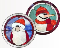 Snowman and Santa rounds
