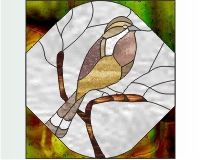 Sparrow Stained Glass Pattern Of Sparrow Or Lark 0 2