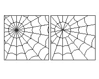 Spider Webs Halloween Or Garden Panel Stained Glass Spider