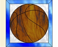 Easy basket ball stained glass pattern