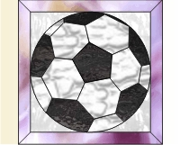 Easy soccer ball stained glass pattern