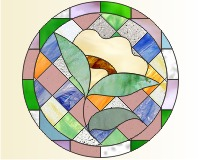 GEOMETRIC STAINED GLASS PATTERNS